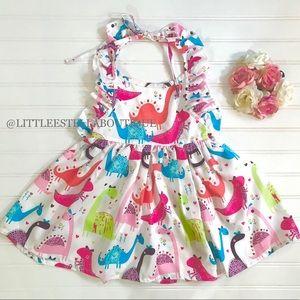 Girls Dinosaur Themed Twirl Dress